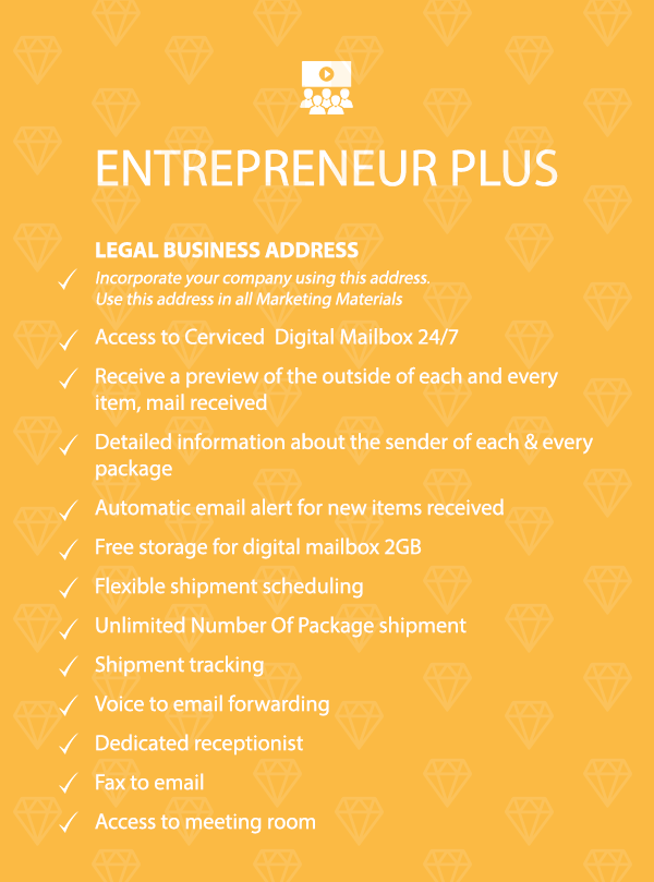 VIRTUAL OFFICE - ENTREPRENEUR PLUS PACKAGE